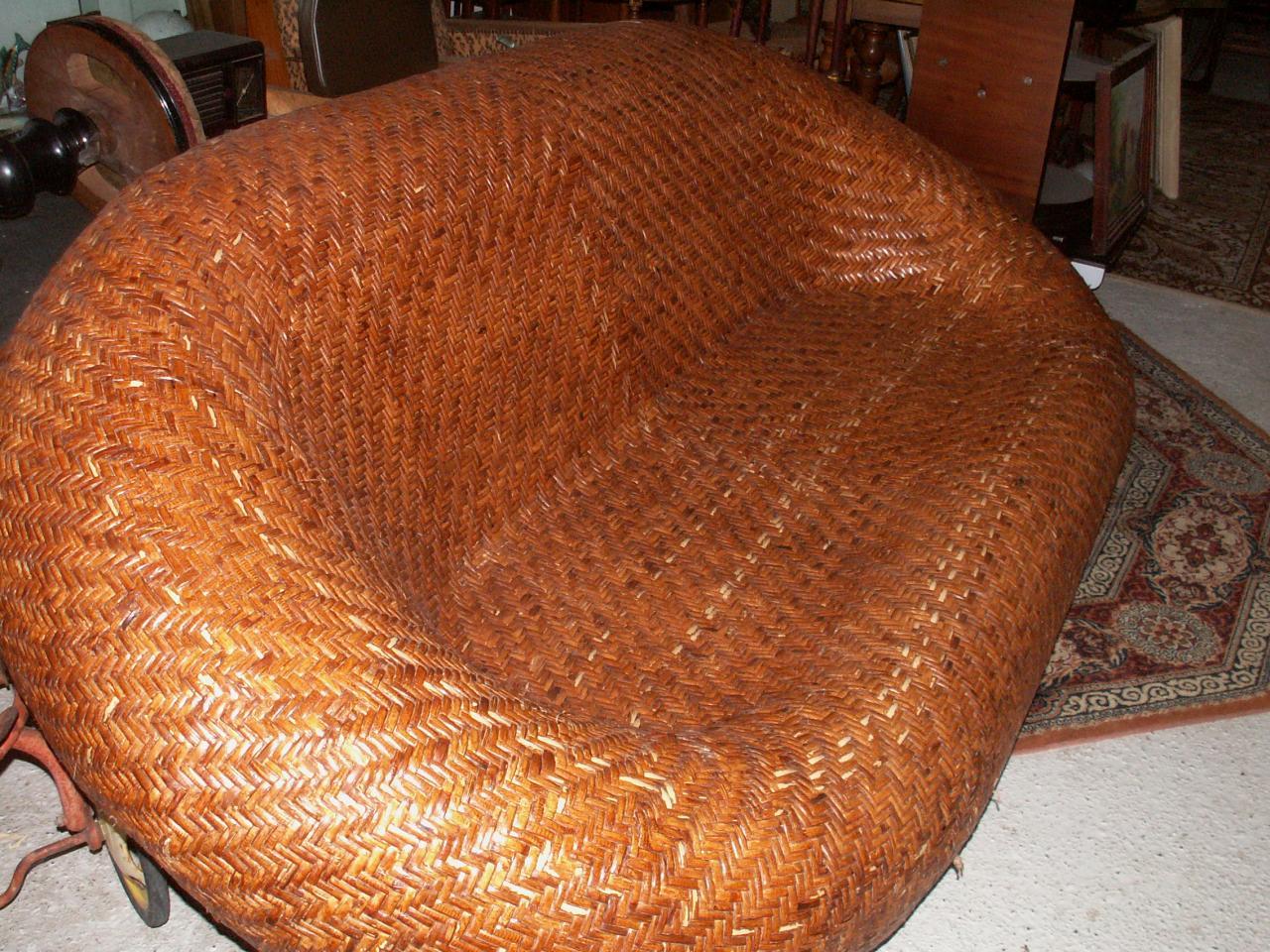 canapé rotin (VENDU )