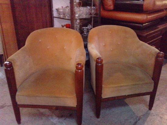 fauteuils tonneau art déco ( vendu )