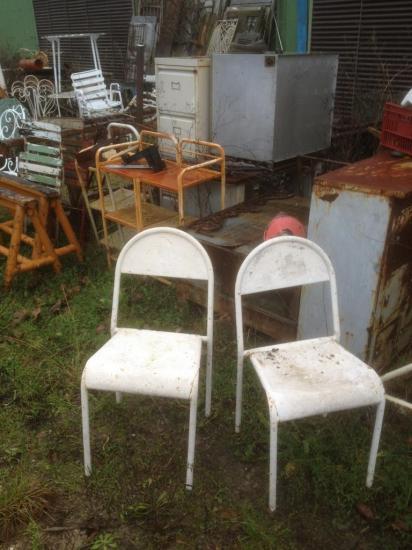 chaise métal et mobilier industriel VENDU